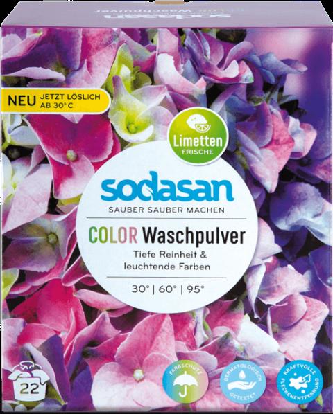 Detergent BIO praf pentru rufe albe si colorate, 1kg - Sodasan