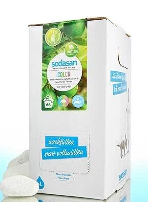 Detergent bio lichid pentru rufe albe si colorate, 5 L - Sodasan