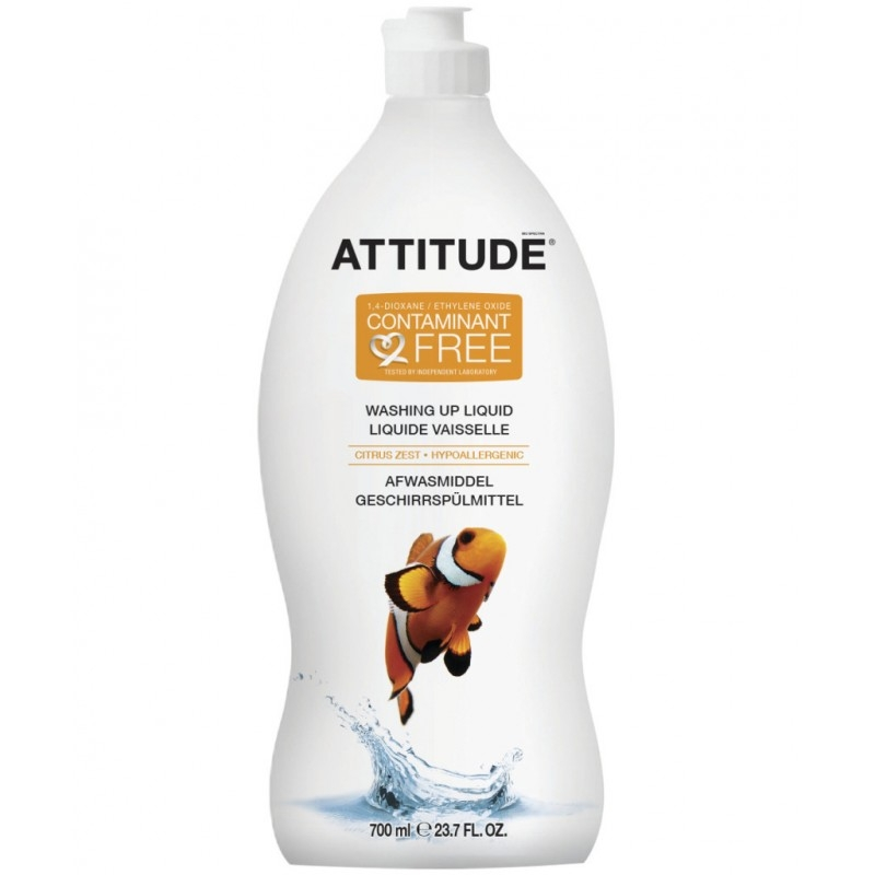 Detergent ecologic de spalat vase si biberoane Citrus Zest, 700 ml - ATTITUDE