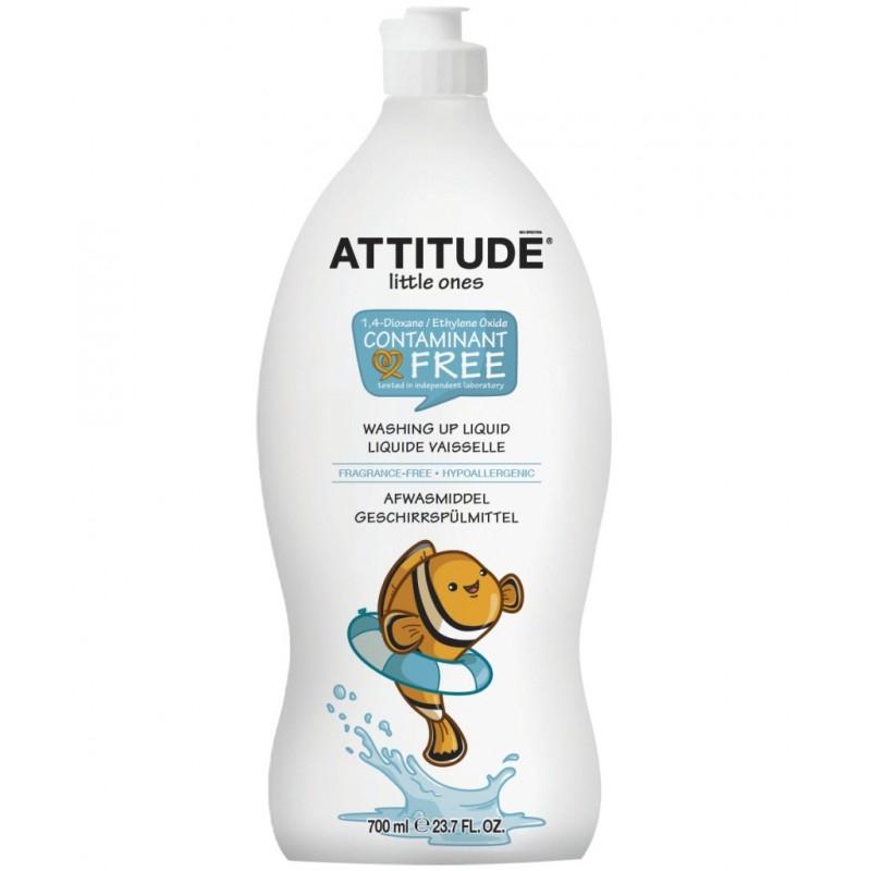 Detergent ecologic de spalat vase si biberoane FARA PARFUM, 700 ml - ATTITUDE