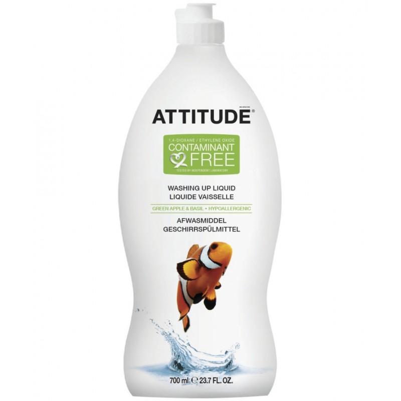 Detergent ecologic de spalat vase si biberoane Mar verde si Busuioc, 700 ml - ATTITUDE
