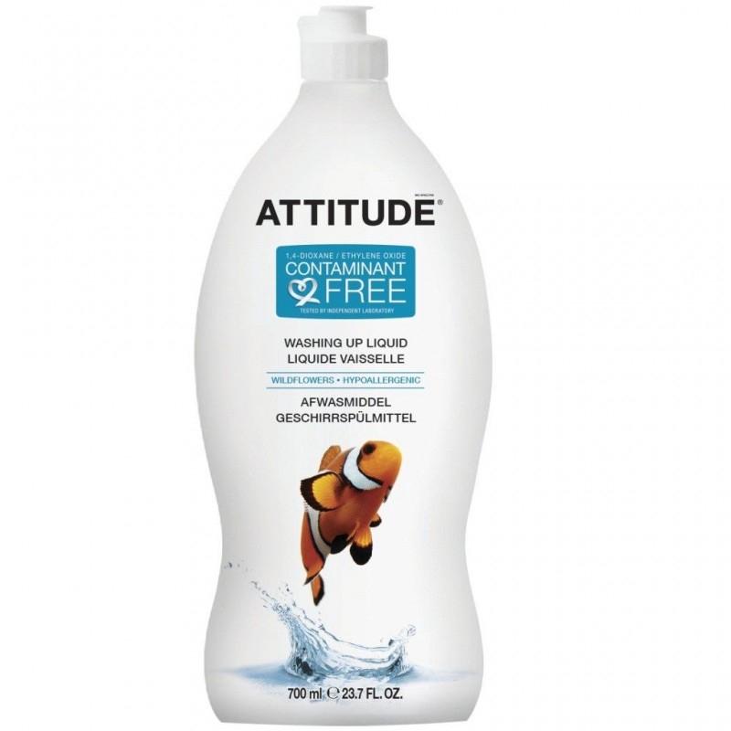 Detergent ecologic de spalat vase si biberoane Wild Flowers, 700 ml - ATTITUDE