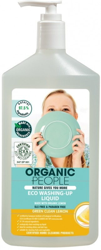 Detergent ecologic pentru vase cu Lamaie, 500 ml - Organic People