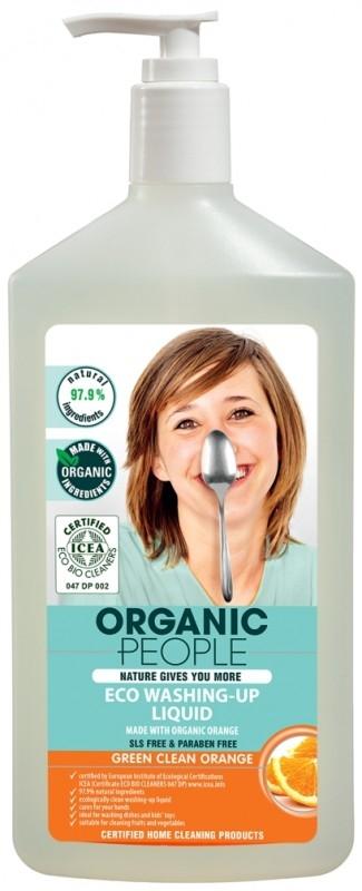 Detergent ecologic pentru vase cu Portocala, 500 ml - Organic People