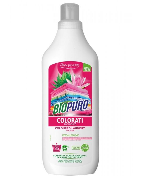 Detergent ecologic pentru rufe colorate, Aloe si Lotus, 35 spalari - Biopuro