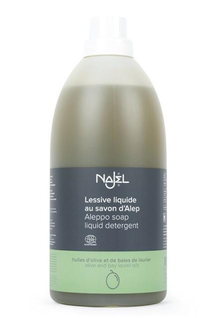 Detergent ecologic pentru rufe cu sapun de Alep, fara parfum, 2L - NAJEL