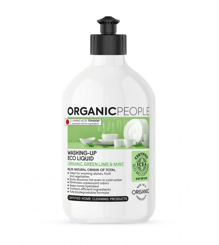 Detergent ecologic pentru vase Green Lime & Mint, 500ml - Organic People