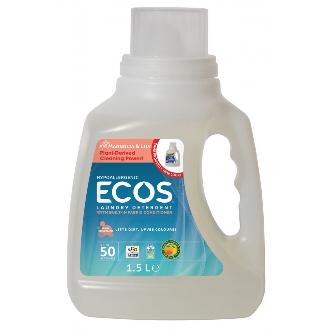 Detergent lichid pentru rufe Magnolie, 1,5 litri - ECOS