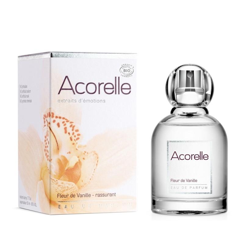 Apa de parfum bio Fleur de Vanille, 50 ml - Acorelle