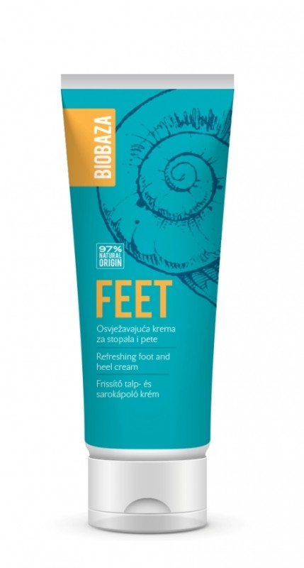Crema racoritoare hidratanta pentru picioare si calcaie, 100 ml - BIOBAZA