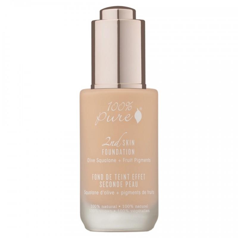 Fond de ten serum cu efect 2nd Skin, no.1 (Sand) - 100 Percent Pure Cosmetics