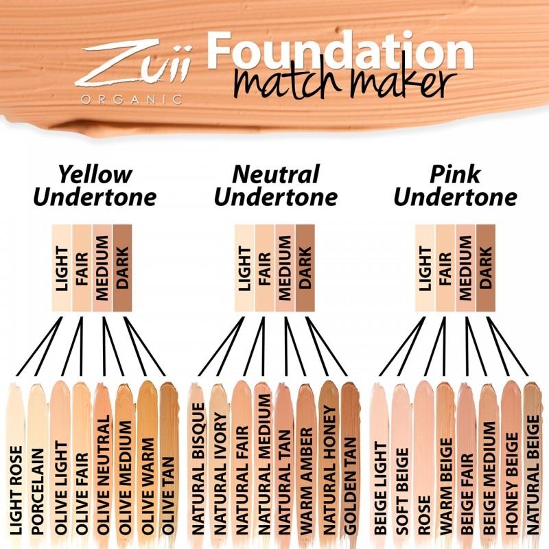 Fond de ten organic cu ingrediente florale, Natural Medium - ZUII Organic