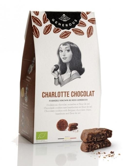 Biscuiti BIO fara gluten cu ciocolata si fleur de sel Charllote Chocolat, 120g - Generous