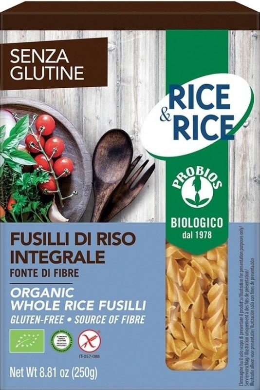 Fusilli bio din orez integral, fara gluten, 250g - Probios