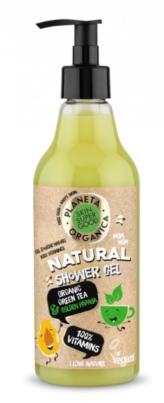Gel de dus natural 100% Vitamins Skin Supergood, 500ml - Planeta Organica