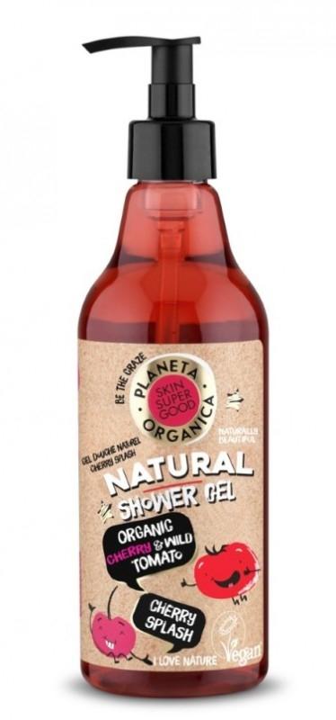 Gel de dus natural Cherry Splash Skin Supergood, 500ml - Planeta Organica