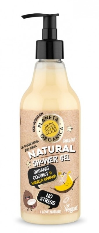 Gel de dus natural No Stress Skin Supergood, 500ml - Planeta Organica