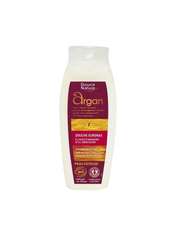 Gel de dus nutritiv cu ulei de argan, 250 ml - Douce Nature