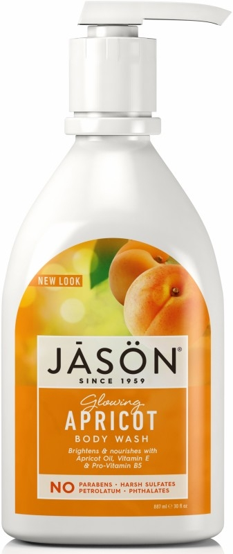 Gel de dus satinat cu Caise,  887 ml - Jason