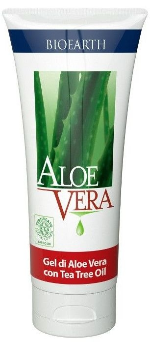 Gel pur de aloe vera cu ulei de tea tree  - Bioearth