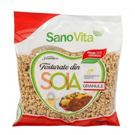 Granule din soia texturata, 150g - SanoVita