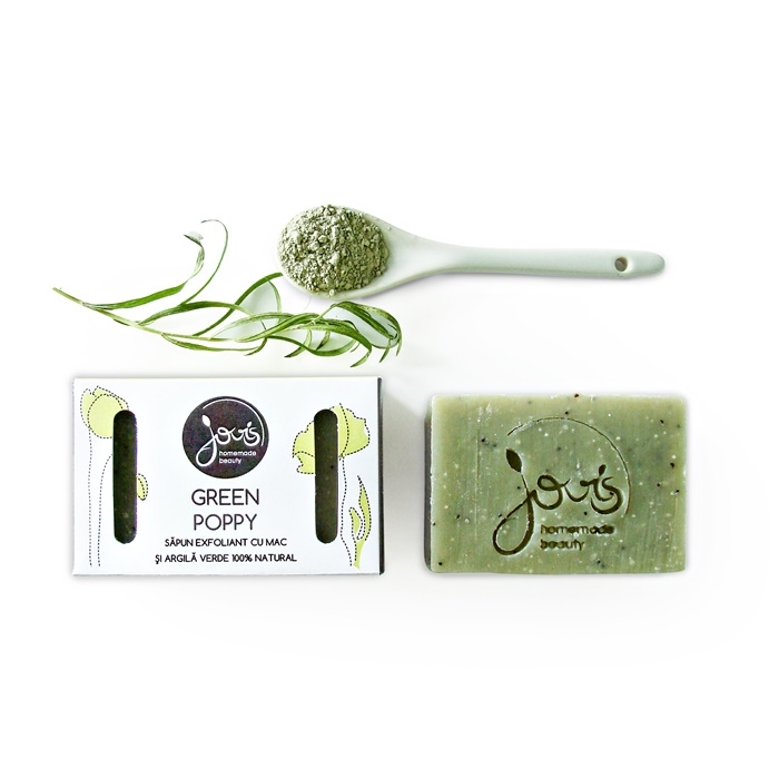 Sapun natural exfoliant Green Poppy - Jovis Homemade Beauty