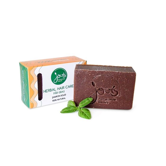 Sampon solid Herbal Hair Care pentru par gras - Jovis Homemade Beauty