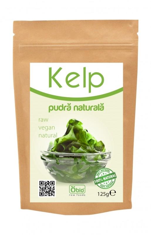 Kelp pulbere raw naturala, 250g - Obio