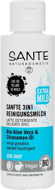 Lapte demachiant 3-in-1 cu aloe si extract de chia, 125 ml - SANTE NATURKOSMETIK