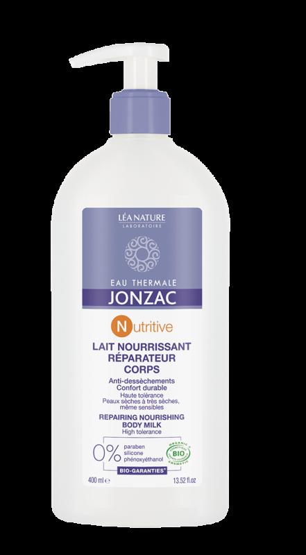 Lapte nutritiv reparator pentru corp, piele uscata, sensibila, Nutritive 400ml - JONZAC