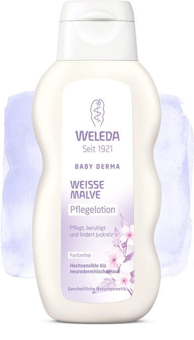 Lotiune de corp cu nalba pentru piele hipersensibila sau neurodermita - Weleda Baby Derma