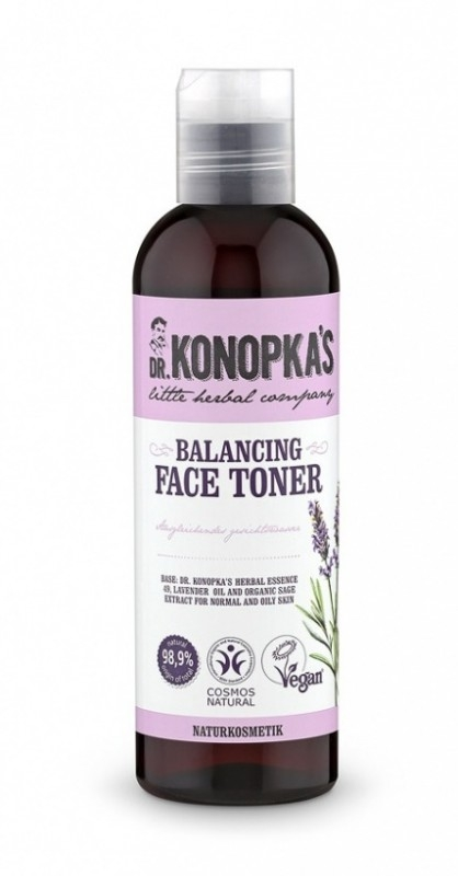 Lotiune tonica echilibranta pentru ten normal si gras, 200 ml - Dr. Konopka