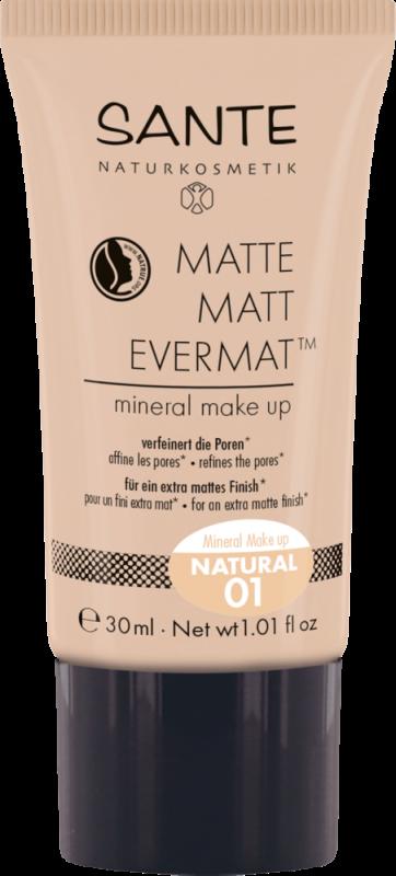 Fond de ten mineral MATTE MATT EVERMAT 01 Natural - SANTE NATURKOSMETIK