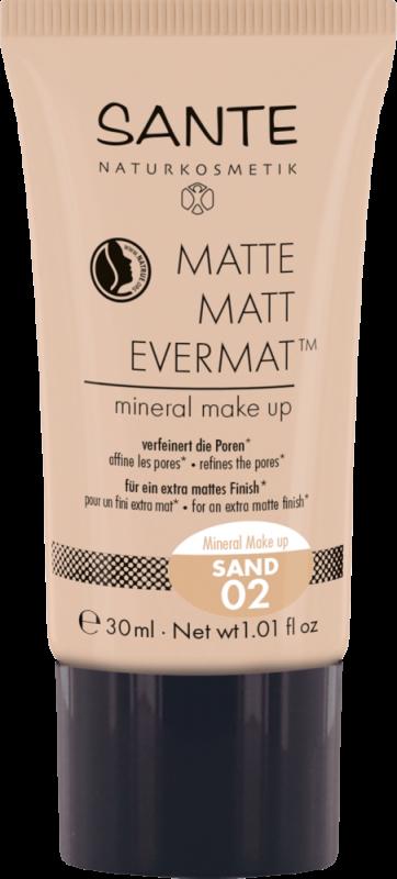 Fond de ten mineral MATTE MATT EVERMAT 02 Sand - SANTE NATURKOSMETIK