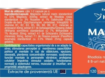 MagneZen Calm, complex natural antistres, 120 capsule - HERBAGETICA