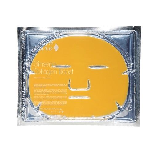 Masca faciala hidrogel cu ginseng si colagen - 100 Percent Pure Cosmetics