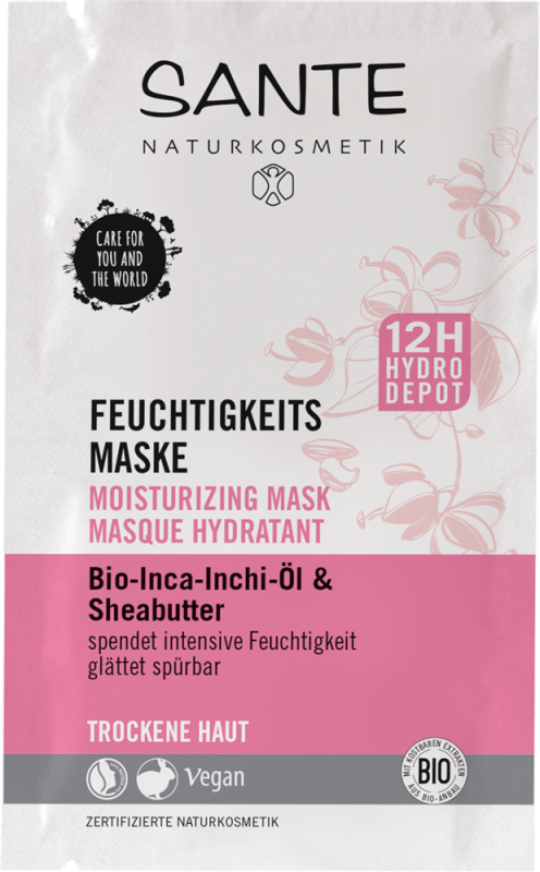 Masca hidratanta 12h cu shea si ulei de inca-inchi, 8ml - Sante Naturkosmetik