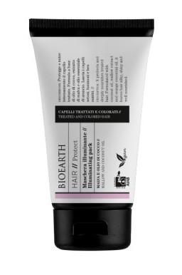 Masca iluminatoare cu ulei de cocos pentru par tratat chimic, 150ml - Bioearth Hair Protect