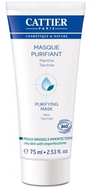 Masca purificatoare pentru ten gras cu imperfectiuni, 75 ml - CATTIER