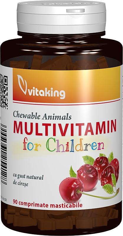 Multivitamine cu minerale pentru copii, 90 comprimate masticabile - Vitaking