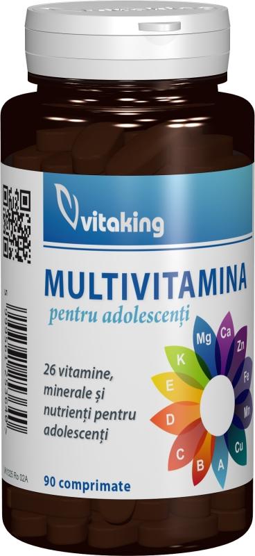 Multivitamine pentru adolescenti, 90 comprimate - Vitaking