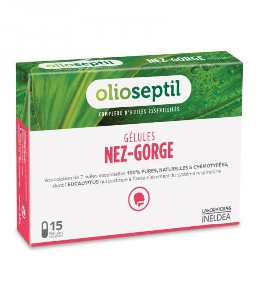 Nez-Gorge, capsule uleiuri esentiale pentru nas si gat, 15 cps - Olioseptil