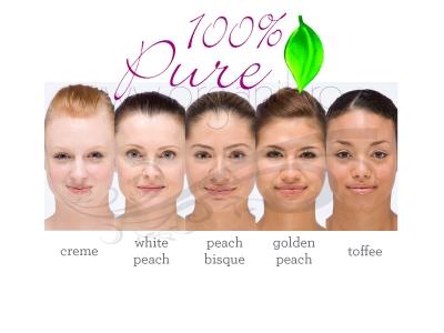 Pudra cu pigmenti din fructe si antioxidanti, White Peach - 100 Percent Pure Cosmetics