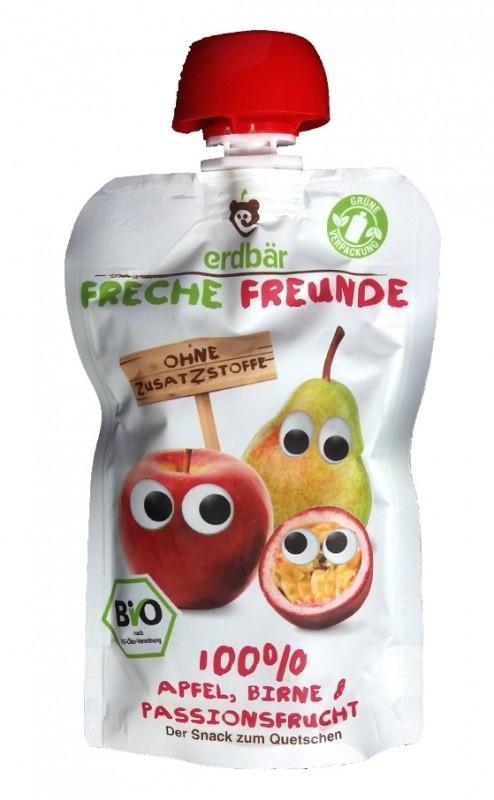 Piure de mere, pere si fructul pasiunii bio, 100g - Erdbar