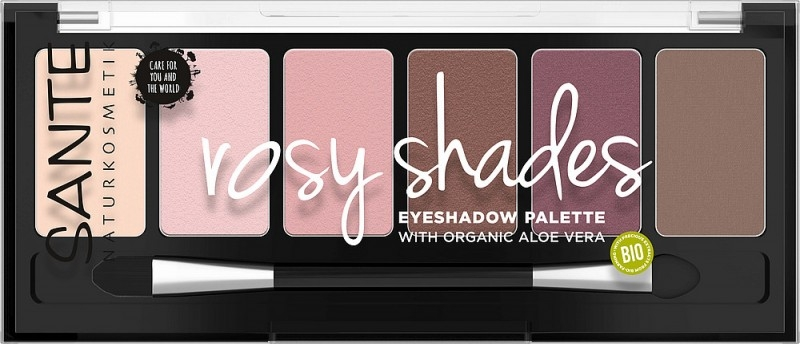 Paleta farduri de pleoape bio Rosy Shades - SANTE NATURKOSMETIK