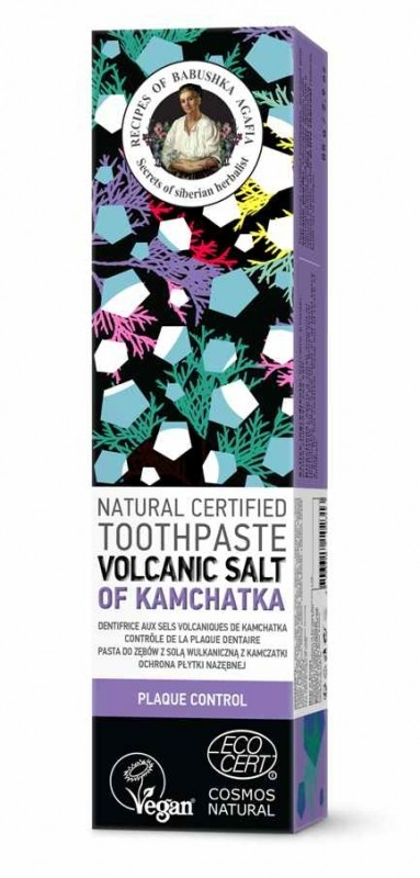 Pasta de dinti anti tartru Volcanic Salt of Kamchatka, 85g - RBA