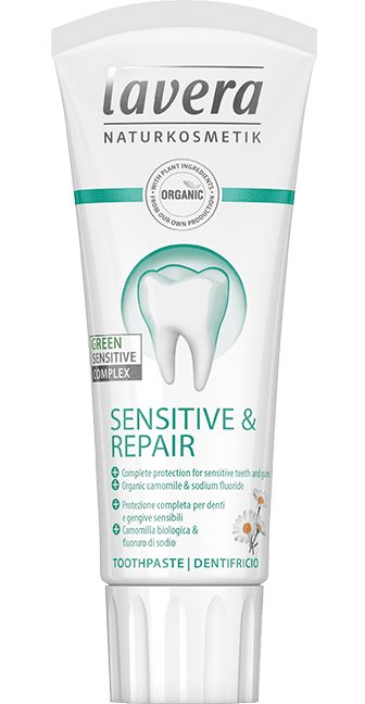 Pasta de dinti bio Sensitive & Repair, 75ml - LAVERA