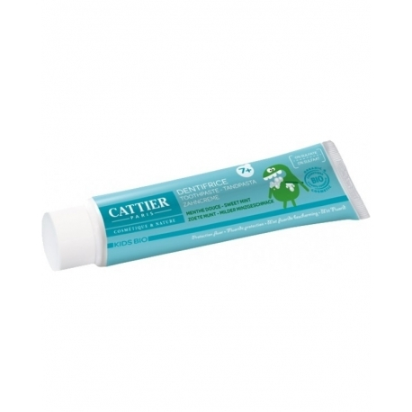 Pasta de dinti bio cu fluor si menta, pentru copii 7+ ani - CATTIER