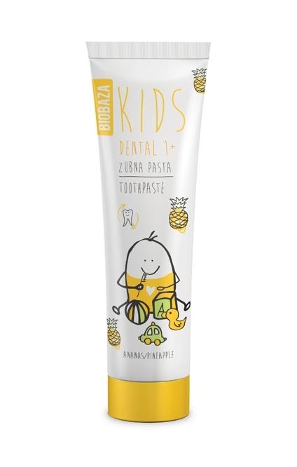 Pasta de dinti naturala pentru copii 1+ cu aroma de ananas, 75 ml - BIOBAZA