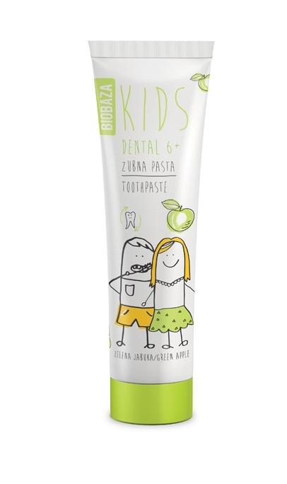 Pasta de dinti naturala pentru copii 6+ cu aroma de mar verde, 75 ml - BIOBAZA